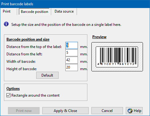Print barcode labels with the barcode generator - ActiveBarcode