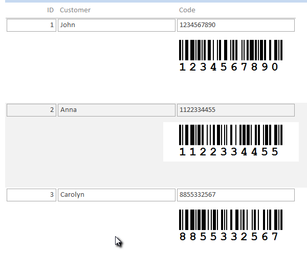 Barcodes in Access 365, 2019, 2016, 2013, 2010 reports - ActiveBarcode