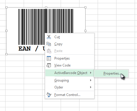 Barcodes in Excel 2016, Excel 2013 and Excel 365 - ActiveBarcode