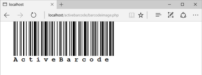 This simple IMG tag creates the barcode
