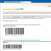 ActiveBarcode Web component