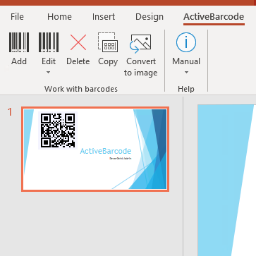 PowerPoint<br>Barcode Add-in