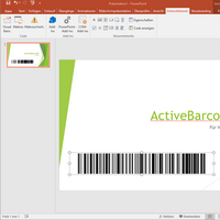 PowerPoint<br>Barcode object
