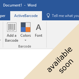 Word Barcode Add-In