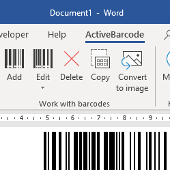 Barcode Add-In for Office